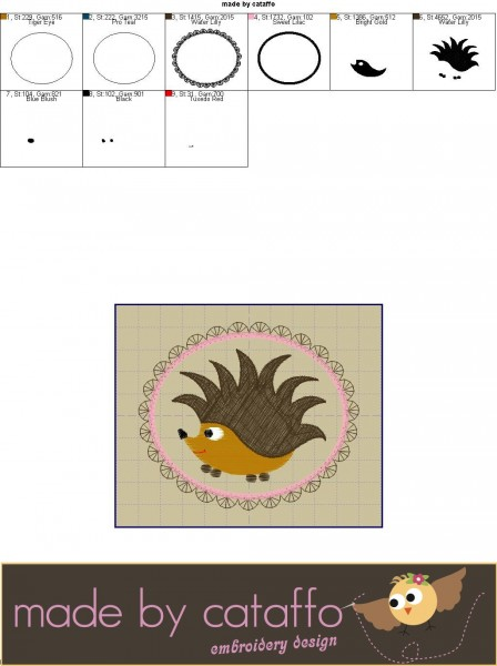 freebie stickdatei iggy, der igel | freebies | cataffo
